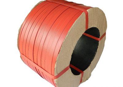 สายรัดพลาสติกPP BAND สีแดง (สำหรับเครื่องกึ่งอัตโนมัติ)