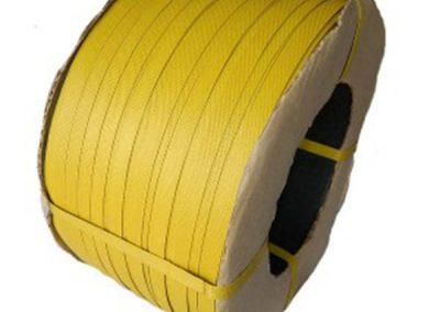 สายรัดพลาสติกPP BAND สีเหลือง (สำหรับเครื่องกึ่งอัตโนมัติ)