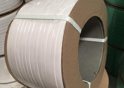 สายรัดพลาสติกPP BAND สีขาว (สำหรับเครื่องกึ่งอัตโนมัติ)