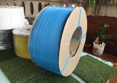 สายรัดพลาสติก PP BAND เกรดA (สีน้ำเงิน) สำหรับเครื่องอัตโนมัติ