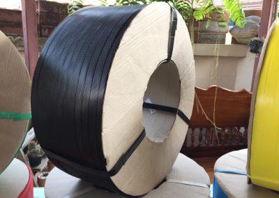 สายรัดพลาสติก PP BAND เกรดA (สีดำ) สำหรับเครื่องอัตโนมัติ