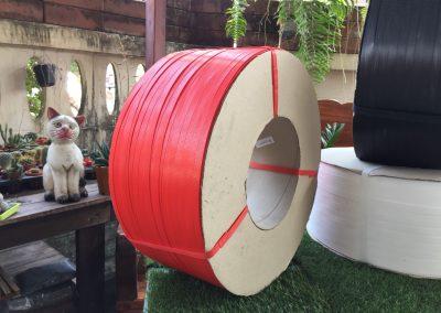 สายรัดพลาสติก PP BAND เกรดA (สีแดง) สำหรับเครื่องอัตโนมัติ