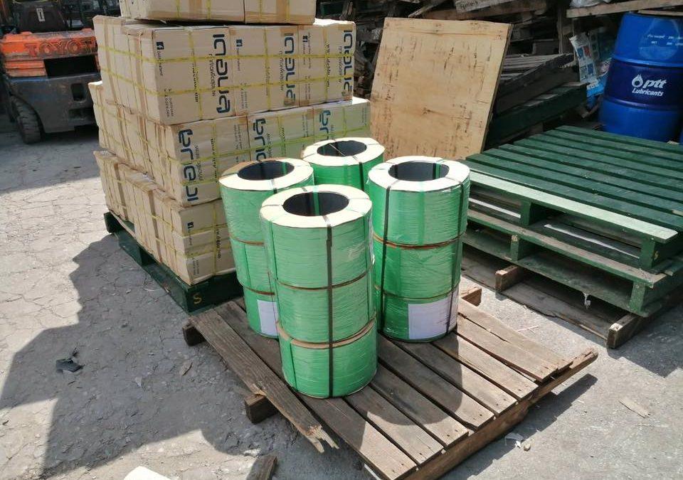 #สายรัตน์กล่องสีเขียว? #ขายสายรัดพลาสติกสีเขียว  อ…