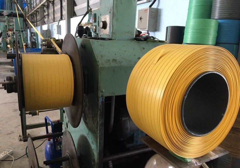 #โรงงานผลิตสายรัดพลาสติคพีพี? #สายรัดพลาสติกสีเหลื…