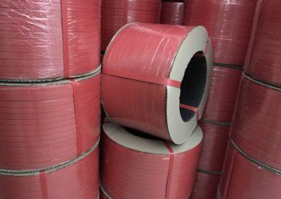 สายรัดพลาสติก สายรัดPP BAND  สายรัดสีแดง