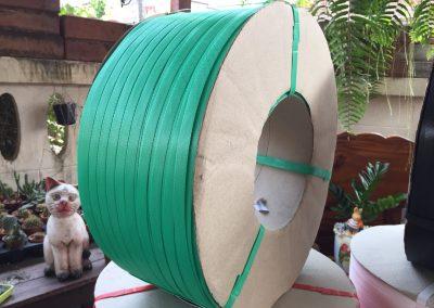 สายรัดพลาสติก PP BAND เกรดA (สีเขียว) สำหรับเครื่องอัตโนมัติ