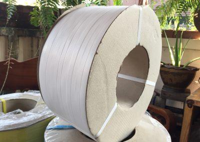 สายรัดพลาสติก PP BAND เกรดA (สีขาว) สำหรับเครื่องอัตโนมัติ