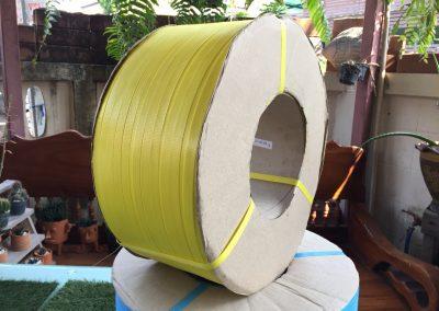 สายรัดพลาสติก PP BAND เกรดA (สีเหลือง) สำหรับเครื่องอัตโนมัติ